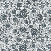 Sashiko - Floral Stitch Ivory Yardage