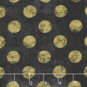 Grunge Hits the Spot - Onyx Metallic Yardage