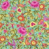 Paloma - Packed Floral Jade Yardage