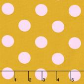 Tula Pink's All Stars - Pom Poms & Stripes Marigold Yardage