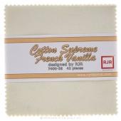 Cotton Supreme Solids French Vanilla Charm Pack