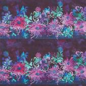 Floragraphix V - Border Purple Yardage
