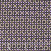 Pansy Noir - Curly Buds Purple Metallic Yardage