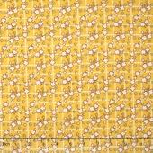 Storybook Flannel - Diamonds and Daisies Yellow Yardage