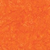 Floralicious Batiks - Feathers Tangerine Yardage