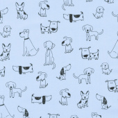 Whiskers & Tails - Dogs Blue Yardage