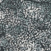 "108"" Wide Back Batik - Abstract Rose Gray Backing"
