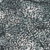 "108"" Wide Back Batik - Abstract Rose Gray Backing"