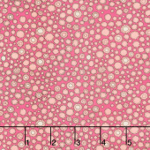 Fantasy - Flower Buttons Raspberry Yardage