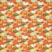 Fall Delight - Pumpkin Collage Orange Yardage