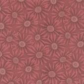 Plant Kindness - Flower Allover Light Cranberry Yardage