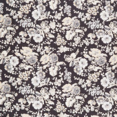 Blackwood Cottage - Large Floral Black Yardage