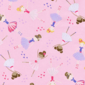 Novelty - Ballerinas Pink Yardage