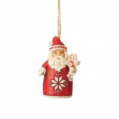 Jim Shore Heartwood Creek Nordic Noel Santa Ornament