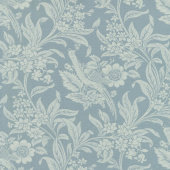 Regency Sussex - Arundel Circa 1800 Oval Room Blue Yardage