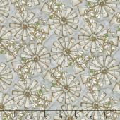 Love 4 Cotton - Mini Windmills Gray Yardage