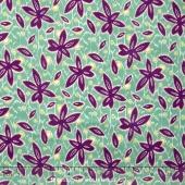 Small Wonders - World Piece Brazil Floral Aqua Yardage