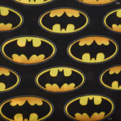Fleece Licensed - Batman Logo Tossed Multi Yardage