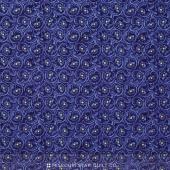 Daisy Blue - Classic Curls Delft Yardage