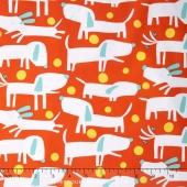 Raining Cats and Dogs - Fetch Orange Yardage
