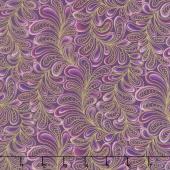 Cat - i - tude - Feather Frolic Purple Yardage
