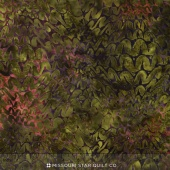 Malam Batiks IV - Desert Ogee Olive Yardage