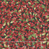 Cardinal Woods - Berries Black Multi Yardage