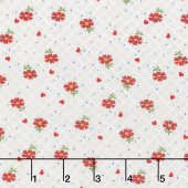 Sugar Sack - Floral Check Pearl Grey Yardage