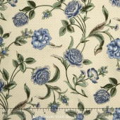 Belcourt - Wallpaper Floral Dusty Blue Yardage