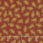 Nancy's Needle 1850-1880 - Prairie Flowers Berry Red Yardage