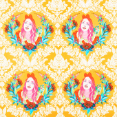 Curiouser and Curiouser - Alice Portrait Sugar Yardage