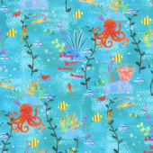Octopus Garden - Octopus Pacific Digitally Printed Yardage