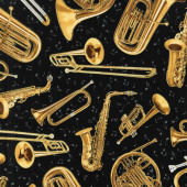 Novelty - Brass Instruments Jet Yardage