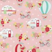 Vintage Adventure - Main Pink Yardage