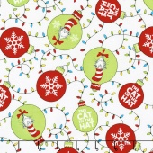 The Cat in the Hat Christmas - Cat Ornaments Holiday Yardage