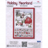Henry Glass Holiday Heartland 36in Advent Calendar Panel Gray//Red Quilt Fabric