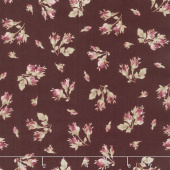 Burgundy & Blush - Tossed Rose Buds Burgundy Yardage