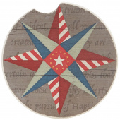 Quilt Car Coaster - Guiding Star