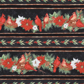 Cardinal Noel - Repeating Stripe Multi Yardage
