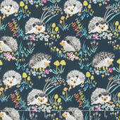Enchanted Forest - Happy Hedgehogs Navy Yardage