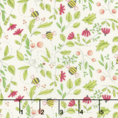 Painted Meadow - Simple Drawings Cream Yardage