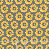 Show Me the Honey - Sunflowers Gray Yardage