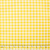 "Carolina Gingham - 1/4"" Check Yellow Yardage"