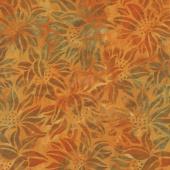 Artisan Batiks - Cornucopia 9 Sunflowers Pumpkin Yardage