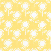Hungry Animal Alphabet - Sunflowers Yellow Yardage