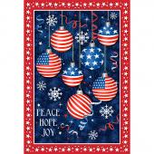 Christmas USA - Peace Hope & Joy Multi Digitally Printed Panel