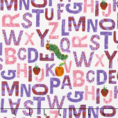 The Very Hungry Caterpillar - Alphabet Purple/Pink Yardage