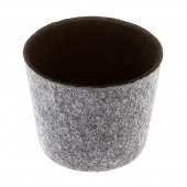 Felt Round Storage Bucket - Black