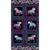 Believe in Unicorns - Unicorn Black Metallic Panel