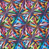 """Smashing Atoms 108"""" - Black Multi Digitally Printed 108"""" Wide Backing"""